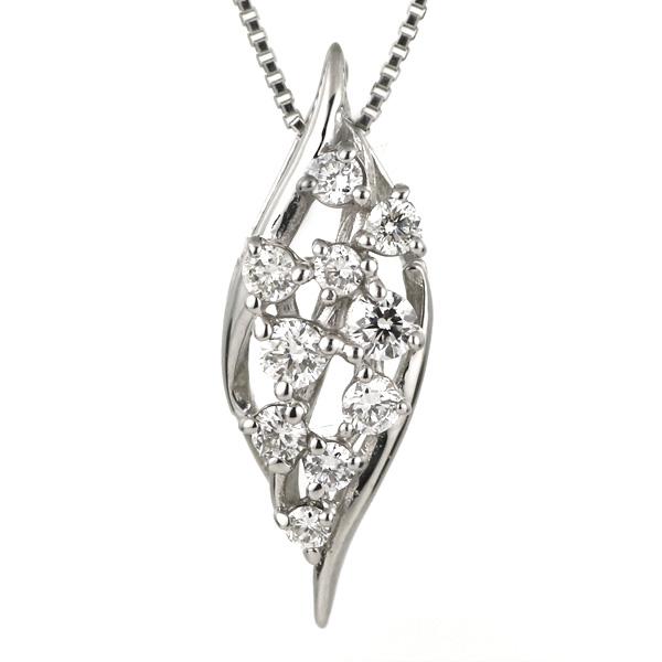 ダイヤモンド ネックレス プラチナ スイート エタニティ 10個のダイヤモンド 結婚10周年