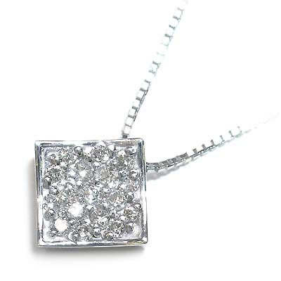 ( 4月誕生石 ) K18ホワイトゴールド ダイヤモンドペンダントネックレス【DEAL】