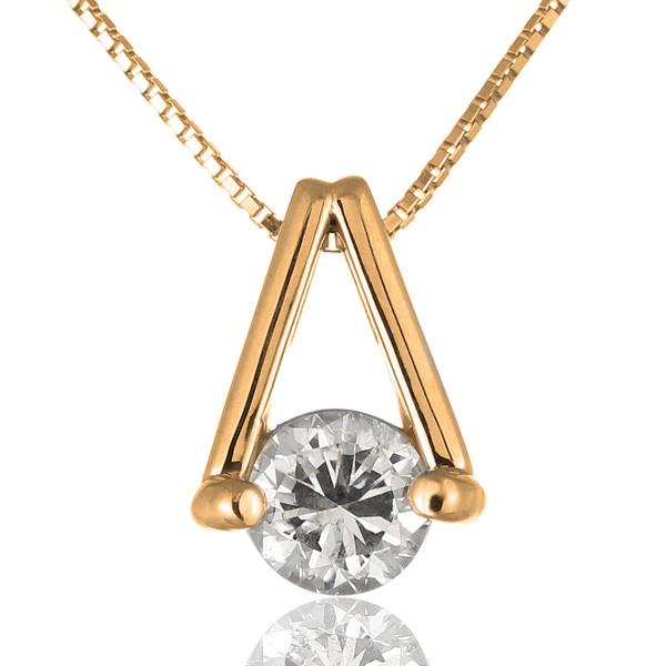 ネックレス 一粒 ダイヤモンド ネックレス ゴールド ダイヤモンドネックレス ダイヤモンド ダイヤ 1カラット 鑑別書付