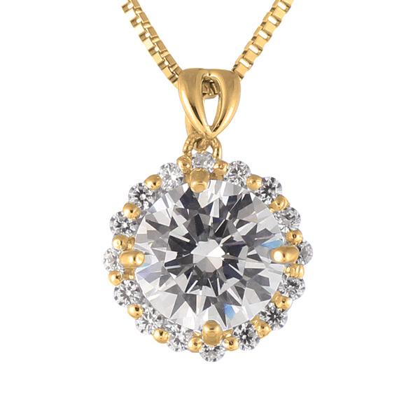 ダイヤモンド ネックレス ゴールド ダイヤモンドネックレス 1カラット ソリティア 一粒 大粒 鑑別書付