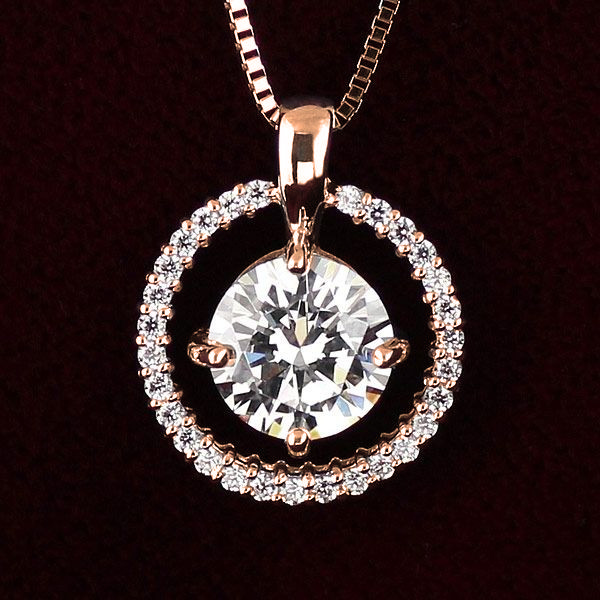 ダイヤモンド ネックレス ゴールド ダイヤモンドネックレス 1カラット ソリティア 一粒 大粒 鑑別書付【DEAL】