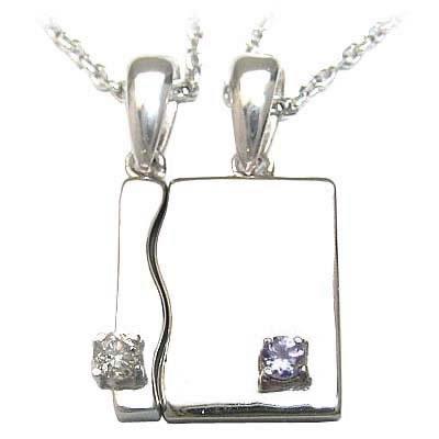 【今だけエントリーで全品5倍!5/18まで限定!】タンザナイト ネックレス ( 4月・12月誕生石 ) シルバー ダイヤモンド・タンザナイトペアペンダントネックレス