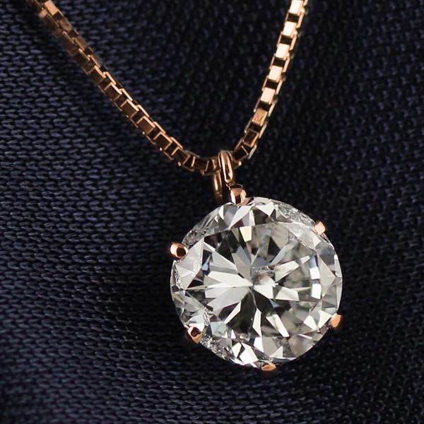 ネックレス 一粒 ダイヤモンド ネックレス ゴールド ダイヤモンドネックレス ダイヤモンド ダイヤ 1カラット