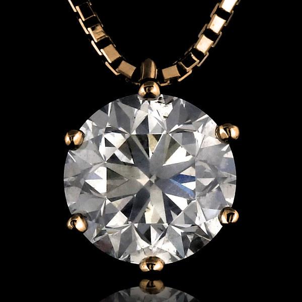 ダイヤモンド ネックレス 2カラット 鑑別書付 ゴールド シンプル ダイヤ ネックレス 人気 DIAMOND NECKLACE