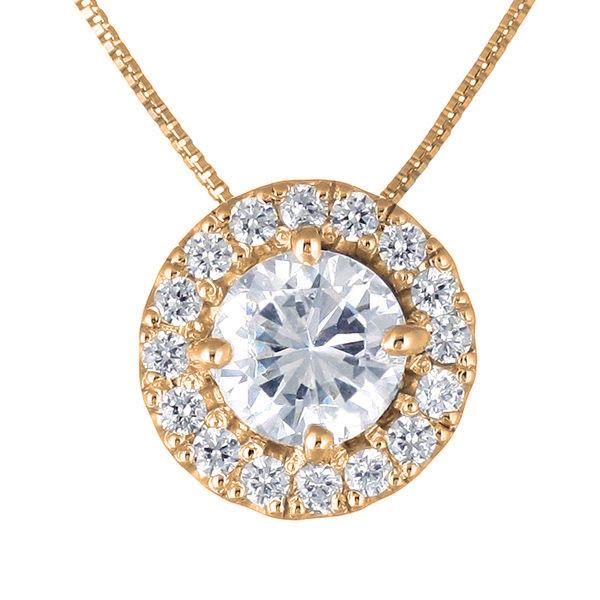 ダイヤモンド ネックレス ゴールド ダイヤモンドネックレス 1カラット ソリティア 一粒 大粒 鑑別書付 末広 スーパーSALE