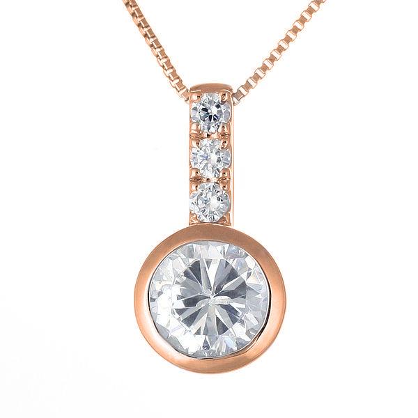 ダイヤモンド ネックレス ゴールド ダイヤモンドネックレス 1カラット ソリティア 一粒 大粒 鑑別書付 【DEAL】