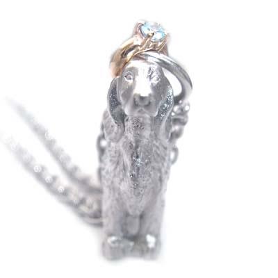 ( 11月誕生石 ) シルバー K10ブルートパーズペンダントネックレス(アイリッシュ・セッター) 犬