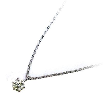 K18ホワイトゴールド ダイヤモンドペンダントネックレス 【DEAL】