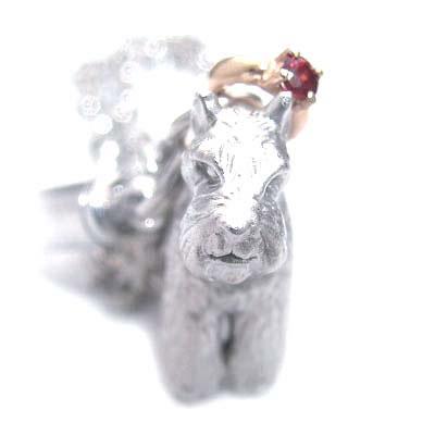 ガーネット ( 1月誕生石 ) シルバー K10ガーネット入り携帯ストラップ(ミニチュアシュナウザー) 犬 末広 スーパーSALE