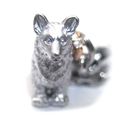 ( 4月誕生石 ) シルバー K10ダイヤモンド入り携帯ストラップ(ウェルシュ・コーギー) 犬 末広 スーパーSALE