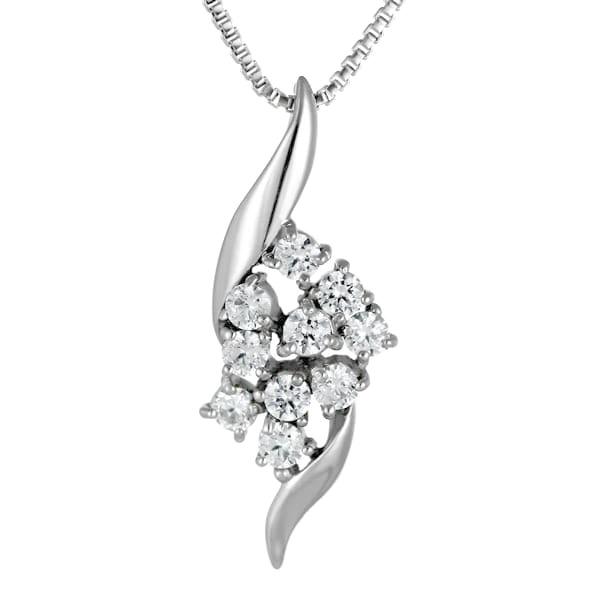 スイート エタニティ ダイヤモンド 10 個 ダイヤモンド ネックレス ホワイトゴールド ダイヤモンドネックレス ダイヤモンド ラッピング無料 結婚 10周年記念 【DEAL】