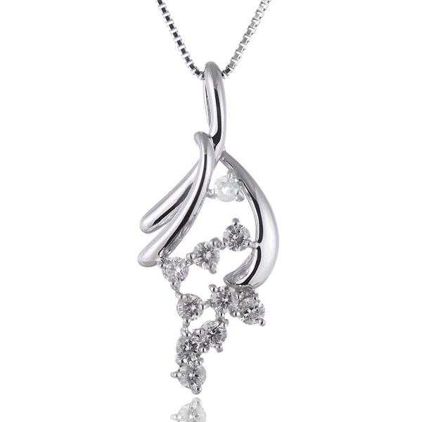 ムーンストーン ネックレス スイート エタニティ ダイヤモンド 10 個 ( 6月誕生石 ) K18ホワイトゴールド ダイヤモンド・ムーンストーンペンダントネックレス 結婚 10周年記念
