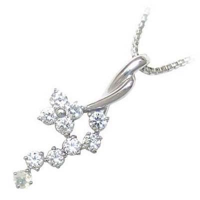 ムーンストーン ネックレス ネックレス メンズ ムーンストーン 6月誕生石 K18ホワイトゴールド ダイヤモンド ムーンストーンペンダントネックレス