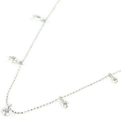 K18ホワイトゴールド ダイヤモンドペンダントネックレス