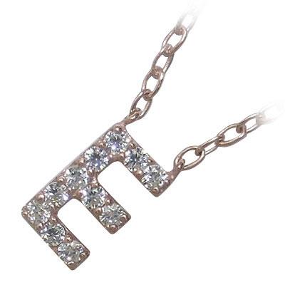 イニシャル 「E」イニシャルモチーフ( 4月誕生石 ) K18ピンクゴールドダイヤモンドペンダントネックレスCanCam掲載