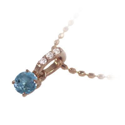 ブルートパーズ ネックレス ネックレス メンズ トパーズ ( 11月誕生石 ) K18ピンクゴールド ブルートパーズペンダントネックレス