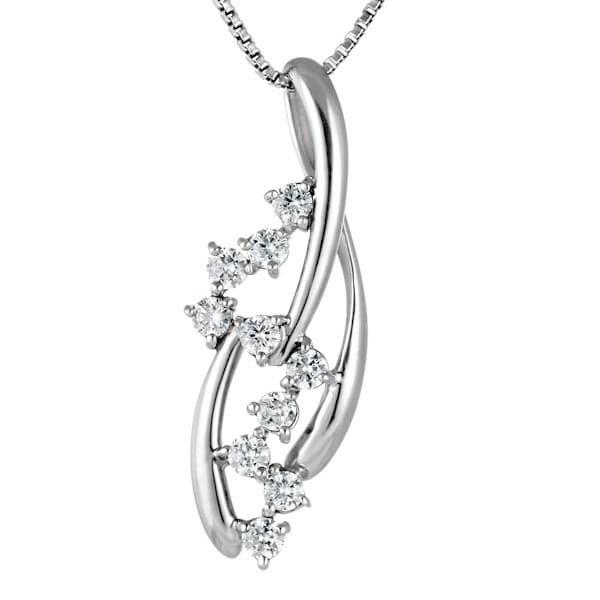 スイート エタニティ ダイヤモンド 10 個 プラチナ ダイヤモンドペンダントネックレス 結婚 10周年記念 【DEAL】