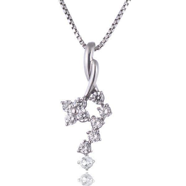 ムーンストーン ネックレス スイート エタニティ ダイヤモンド 10 個 ( 6月誕生石 ) プラチナ ダイヤモンド・ムーンストーンペンダントネックレス 結婚 10周年記念