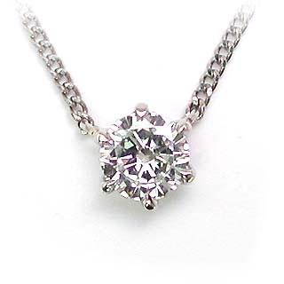 ネックレス 一粒 ダイヤモンド ネックレス K10ホワイトゴールド ダイヤモンドネックレス ダイヤモンド ダイヤ 0.6カラット【DEAL】