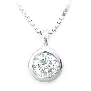 ネックレス 一粒 ダイヤモンド ネックレス K10ホワイトゴールド ダイヤモンドネックレス ダイヤモンド ダイヤ 0.3カラット