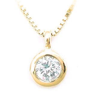 ネックレス 一粒 ダイヤモンド ネックレス K18イエローゴールド ダイヤモンドネックレス ダイヤモンド ダイヤ 0.15カラット 末広 スーパーSALE
