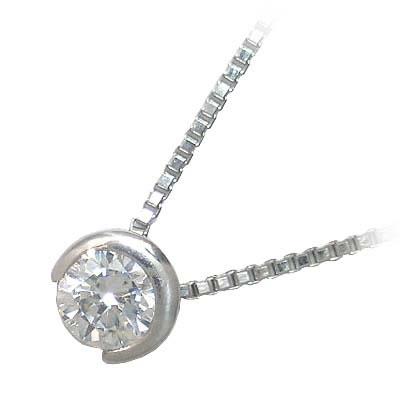 ネックレス 一粒 ダイヤモンド ネックレス シルバー ダイヤモンドネックレス ダイヤモンド ダイヤ 0.4カラット