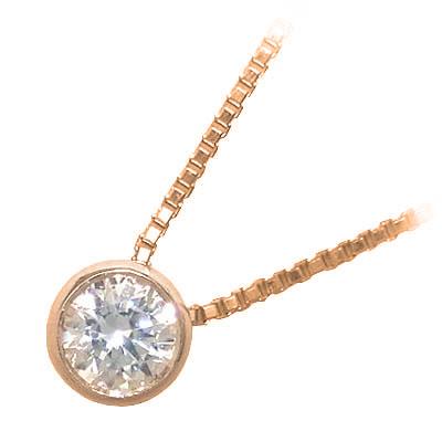 ネックレス 一粒 ダイヤモンド ネックレス K10ピンクゴールド ダイヤモンドネックレス ダイヤモンド ダイヤ 1.0カラット 末広 スーパーSALE【今だけ代引手数料無料】