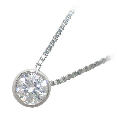 ネックレス 一粒 ダイヤモンド ネックレス K18ホワイトゴールド ダイヤモンドネックレス ダイヤモンド ダイヤ 1.0カラット
