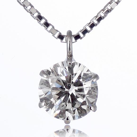 ネックレス 一粒 ダイヤモンド ネックレス プラチナ ダイヤモンドネックレス ダイヤモンド ダイヤ 0.3カラット 末広 スーパーSALE