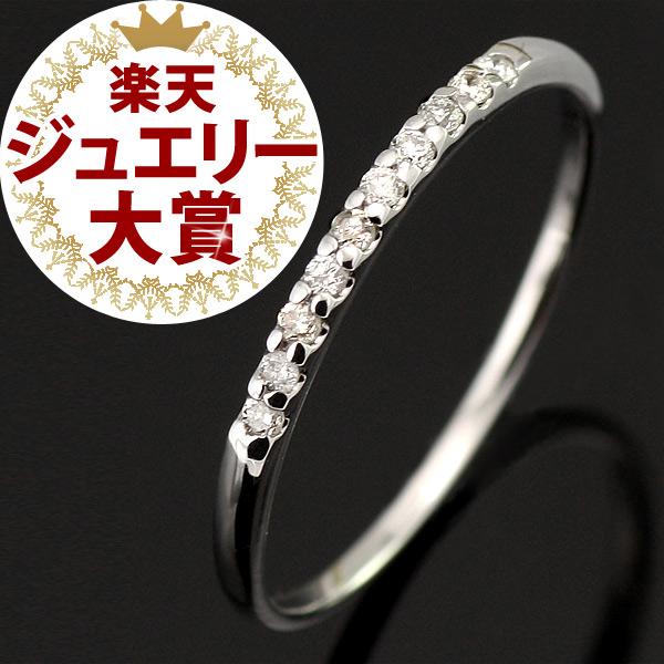 ペアリング 結婚指輪 マリッジリング ダイヤモンド エタニティ リング ハーフエタニティ-QP【あす楽対応】