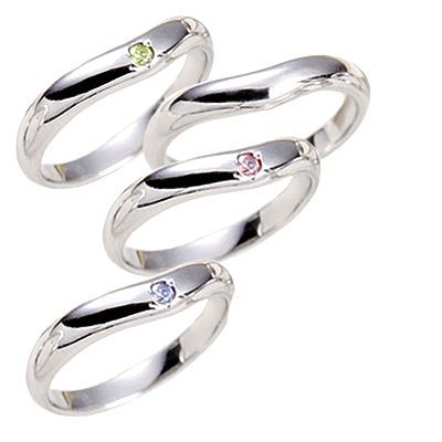 プラチナ Pt 選べる誕生石 CanCam掲載 結婚指輪・マリッジリング・ペアリング