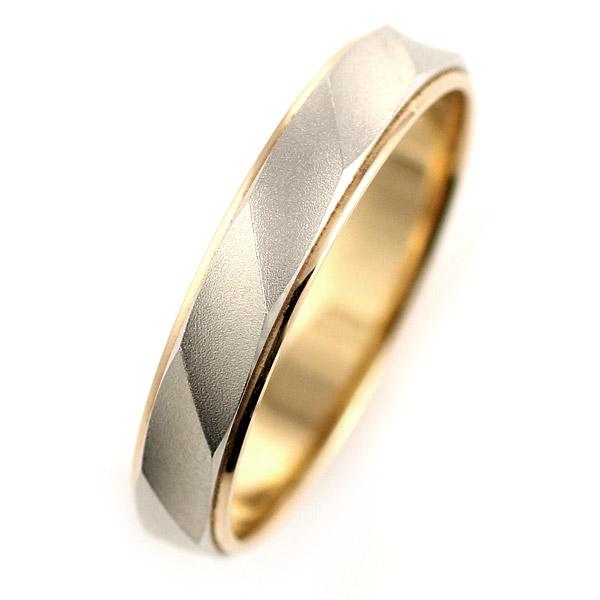 ( Brand Jewelry Oferta ) プラチナ950・K18ピンクゴールドペアリング(結婚指輪)