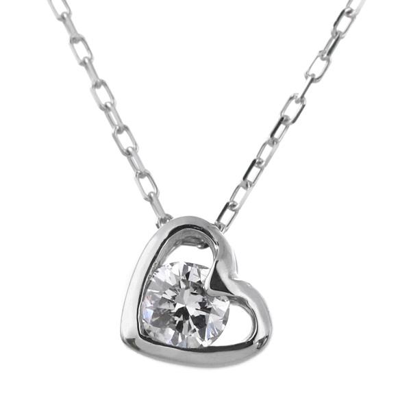 ダイヤモンドネックレス ダイヤ ネックレス 大切な 女性 への プレゼント にも♪ ダイヤモンド ペンダント シンプル な、 ダイヤネックレス チェーン は、 K18 ホワイトゴールド 送料無料 ラッピング無料 保証書付き