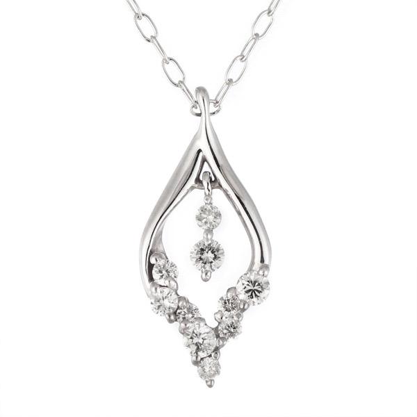 ダイヤモンド ダイヤモンドネックレス ネックレス 【10粒 ダイヤネックレス ♪】 ハート ダイヤ ホワイトゴールド ダイヤモンド プレゼント【DEAL】