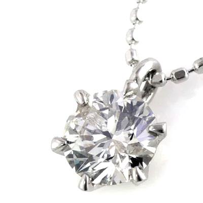 ダイヤモンド ネックレス K18ホワイトゴールド プラチナ900 ダイヤモンドペンダントネックレス 0.3カラット