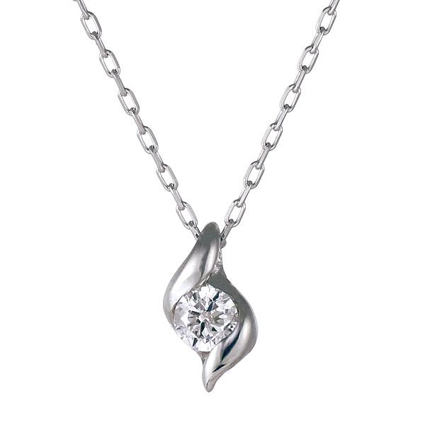 ダイヤモンド ダイヤモンドネックレス ネックレス 大切な 女性 への プレゼント にも♪ ダイヤモンド ペンダント シンプル な、 ダイヤネックレス チェーン は、 K18 ホワイトゴールド ラッピング無料 保証書付き