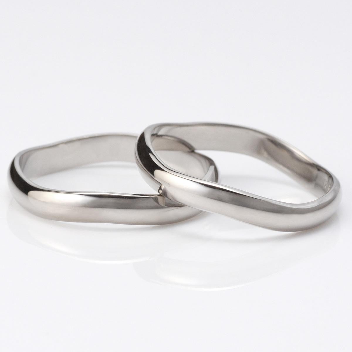メンズリング 無料 結婚指輪 マリッジリング ペアリング ホワイトゴールド 2本セット 末広 スーパーSALE【今だけ代引手数料無料】