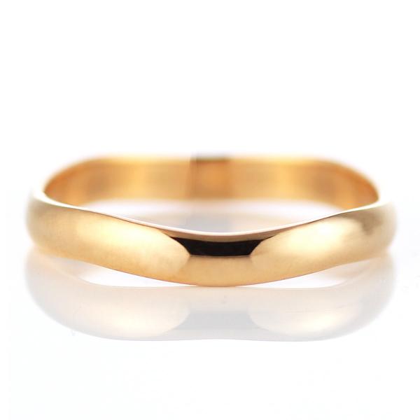 ピンクゴールド 結婚指輪 マリッジリング ペアリング 18金  23号~ 特注サイズ 大きいサイズ