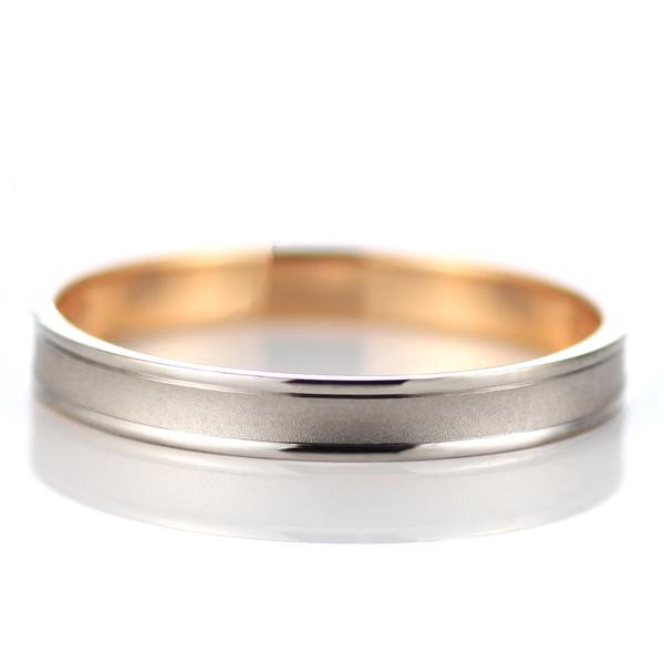 ピンクゴールド ホワイトゴールド 結婚指輪 マリッジリング ペアリング 18金