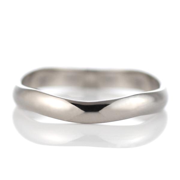 ホワイトゴールド 結婚指輪 マリッジリング ペアリング 18金 シンプル 23号~ 特注サイズ 大きいサイズ