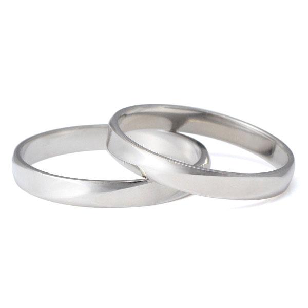 プラチナ ペアリング 結婚指輪 マリッジリング シンプル 2本セット