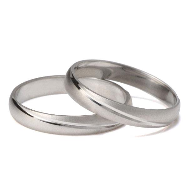 つや消し 結婚指輪 マリッジリング ペアリング プラチナ