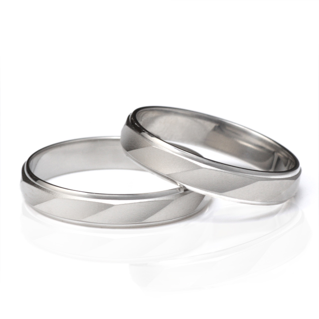 メンズリング 刻印無料 つや消し 結婚指輪 マリッジリング ペアリング プラチナ 2本セット