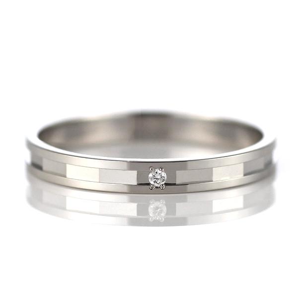 ラッピング無料 結婚指輪 マリッジリング ペアリング プラチナ ダイヤモンド