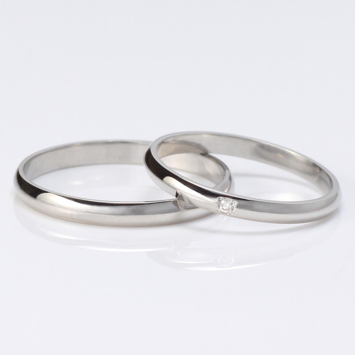 結婚指輪 マリッジリング ペアリング プラチナ ダイヤモンド 2本セット
