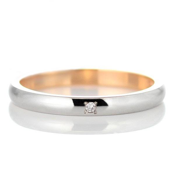 プラチナ ゴールド ダイヤモンド 結婚指輪 マリッジリング ペアリング 18金