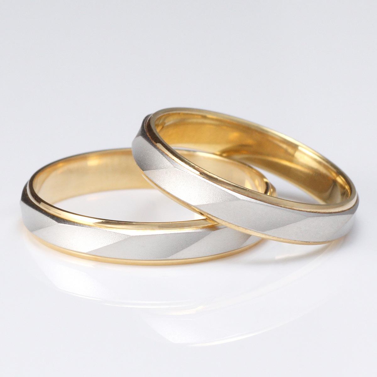 ペアリング シンプル 結婚指輪 マリッジリング ペアリング プラチナ ゴールド 2本セット