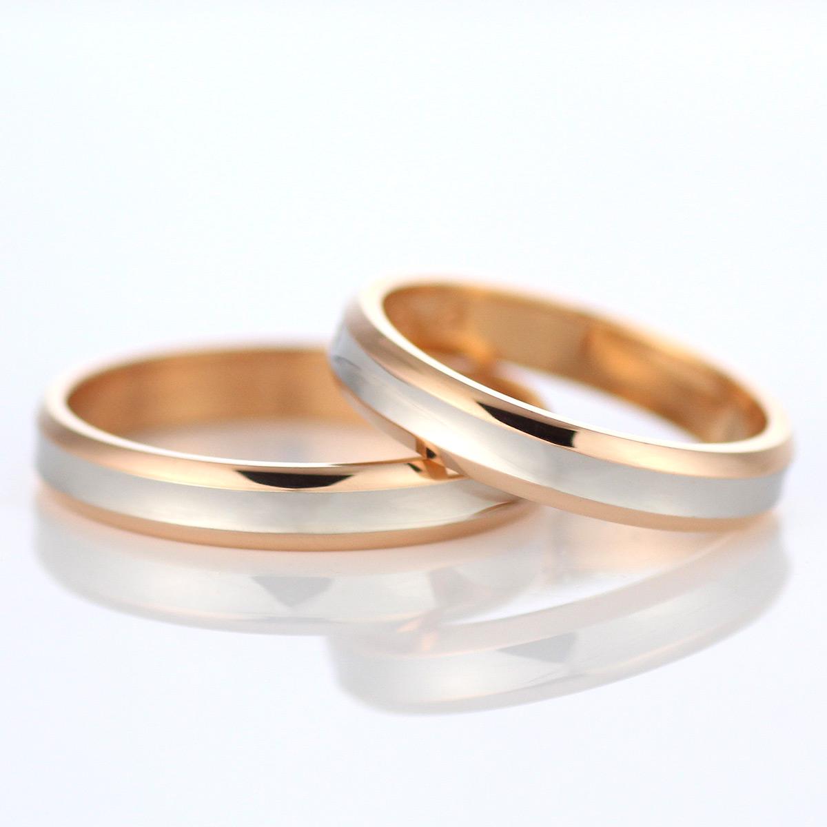 結婚指輪 マリッジリング ペアリング プラチナ ゴールド 2本セット