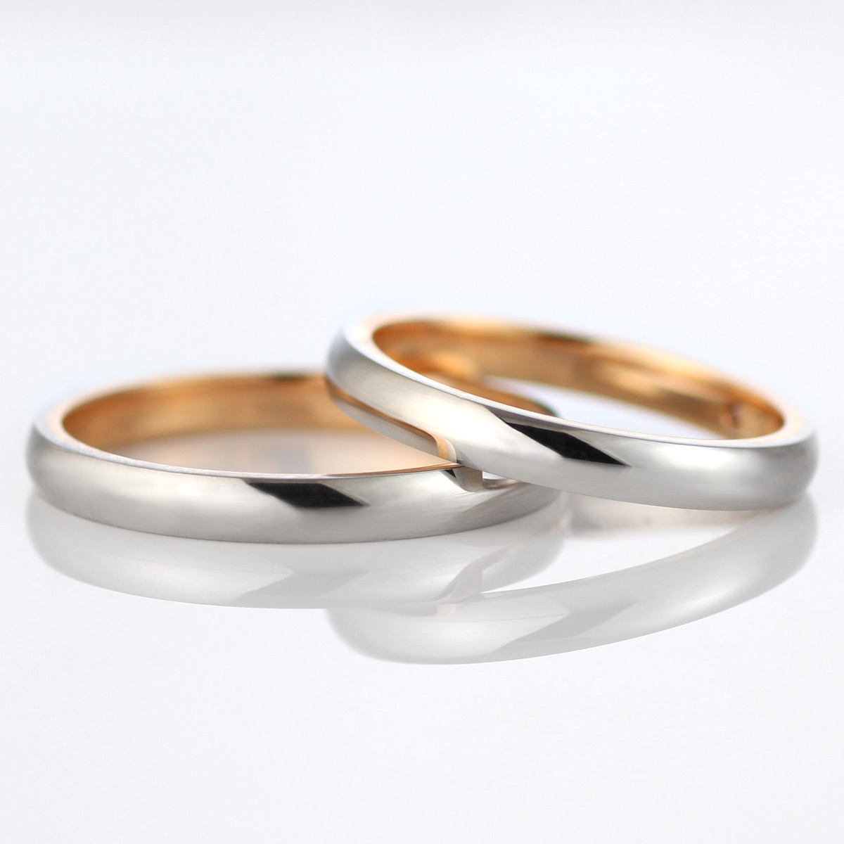 メンズリング 結婚指輪 マリッジリング ペアリング プラチナ ゴールド 2本セット