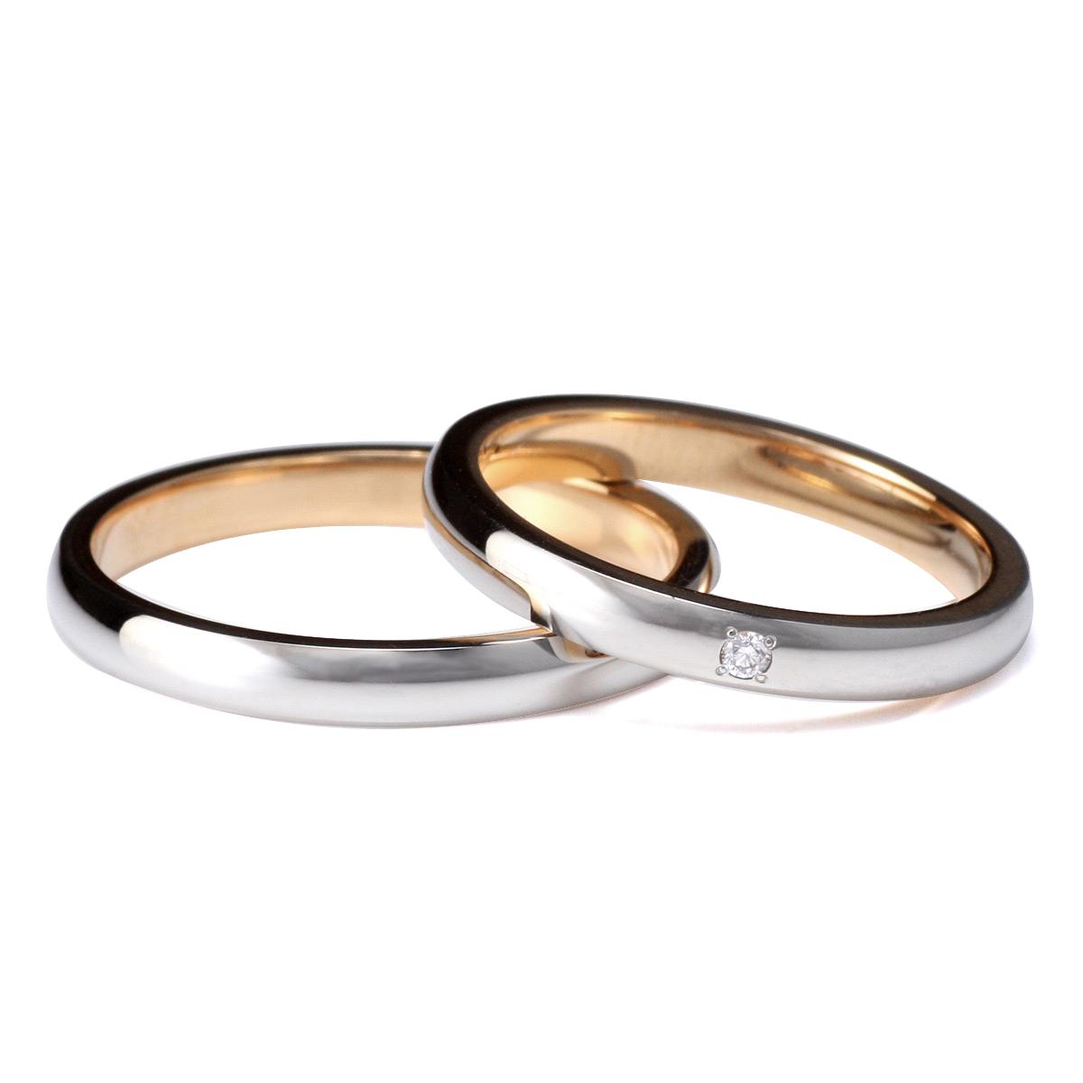 ラッピング無料 結婚指輪 マリッジリング ペアリング ダイヤモンド 2本セット
